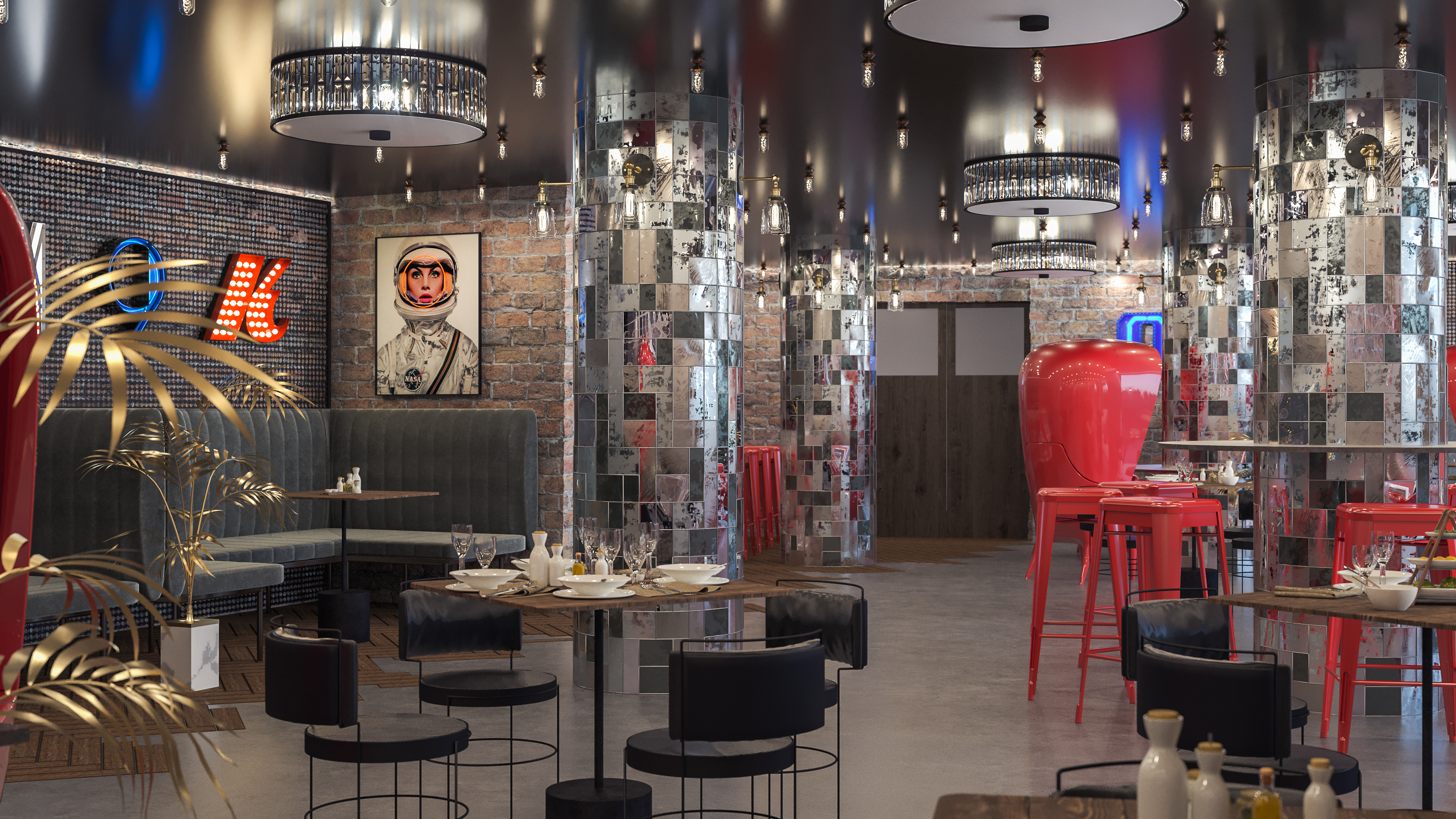 Interior Design Project for the ACT TWO Restaurant by ARO Studio